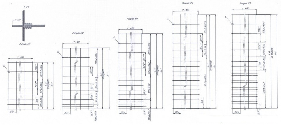 Сетка шарнирная схема и размеры